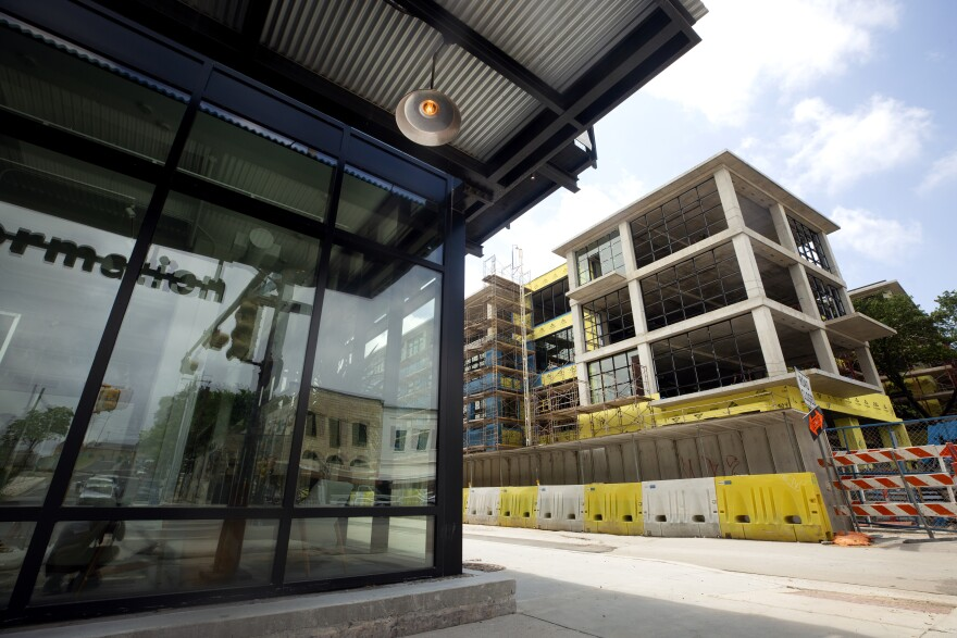 A construction site on South Congress Avenue is one of two cited for violations related to the city's stay-at-home, work safe order.