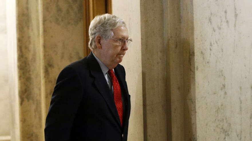 """We need more funding — and we need it fast,"" Senate Majority Leader Mitch McConnell said on the Senate floor."