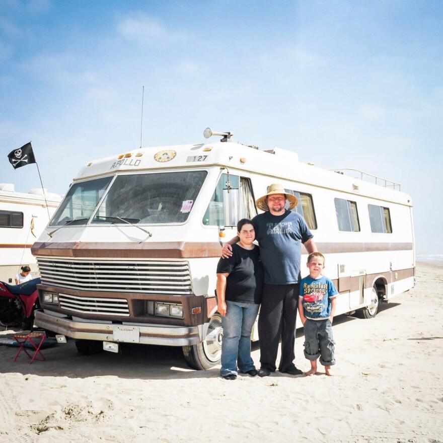 Yates family in Pismo Dunes, Calif.