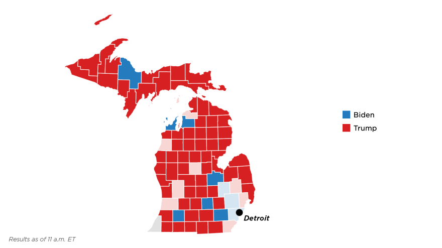 Michigan election county results