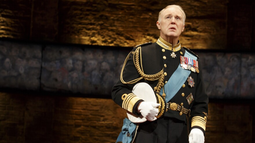 """Tim Pigott-Smith plays a bewildered but principled monarch in the new """"future history"""" play <em>King Charles III.</em>"""