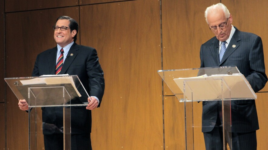 Reps. Steve Rothman (left) and Bill Pascrell went head-to-head at a debate Monday in Montclair, N.J.