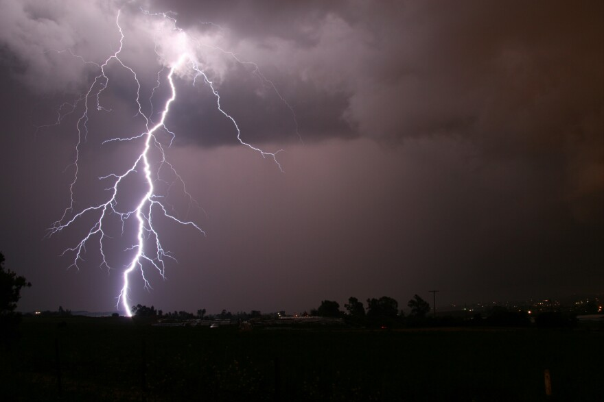 Clearwater Police remind beachgoers to take cover and go to a safe place when lightning and thunder are present.