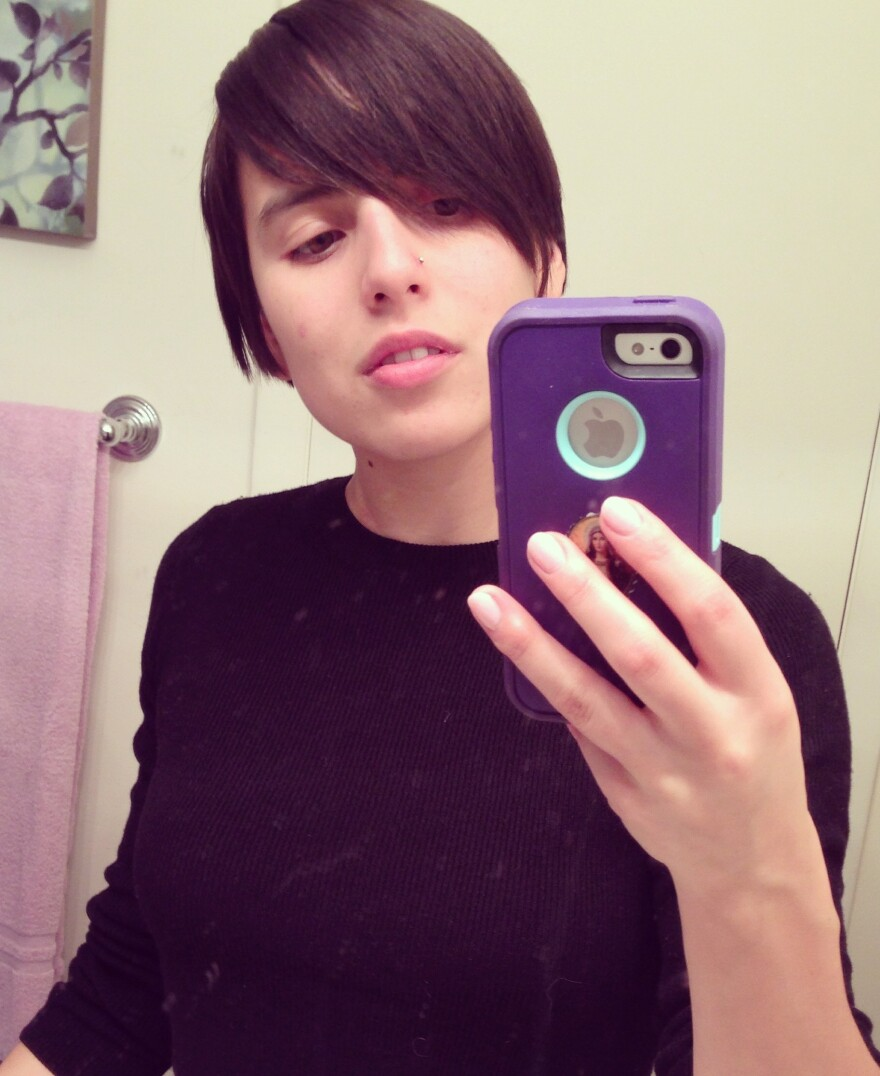 Ramona Martinez is under no illusion that this selfie is a work of art.