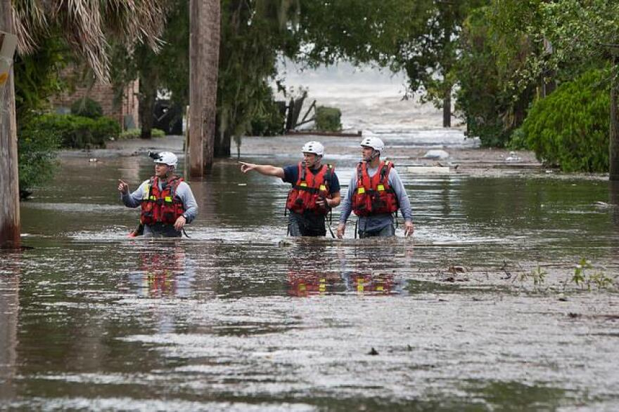 The city of Jacksonville saw historic flooding due to Hurricane Irma.