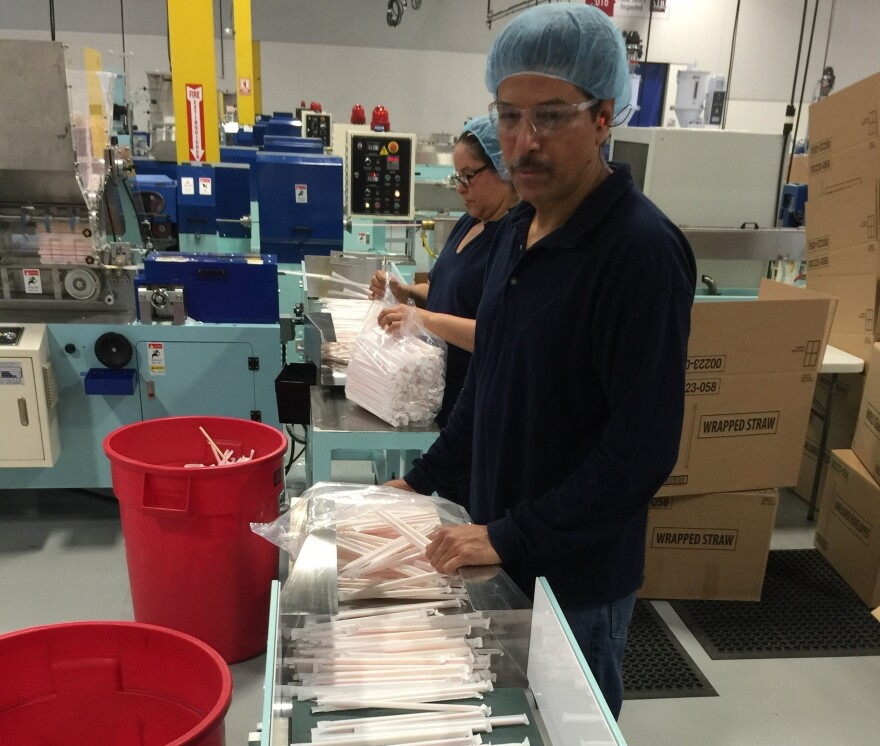 The Chinese company Fuling Plastic set up a plant in Allentown, Pa., last year. The company, which makes straws and other plastic products, supplies fast food chains. Chinese companies are expected to invest about $30 billion in the U.S. this year, doubling the record set last year.