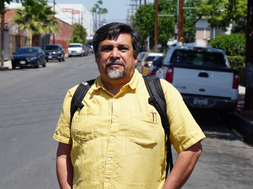 Leonardo Vilchis is executive director of Union de Vecinos, a Boyle Heights nonprofit that represents low-income residents. His group wants the art galleries out of the neighborhood.