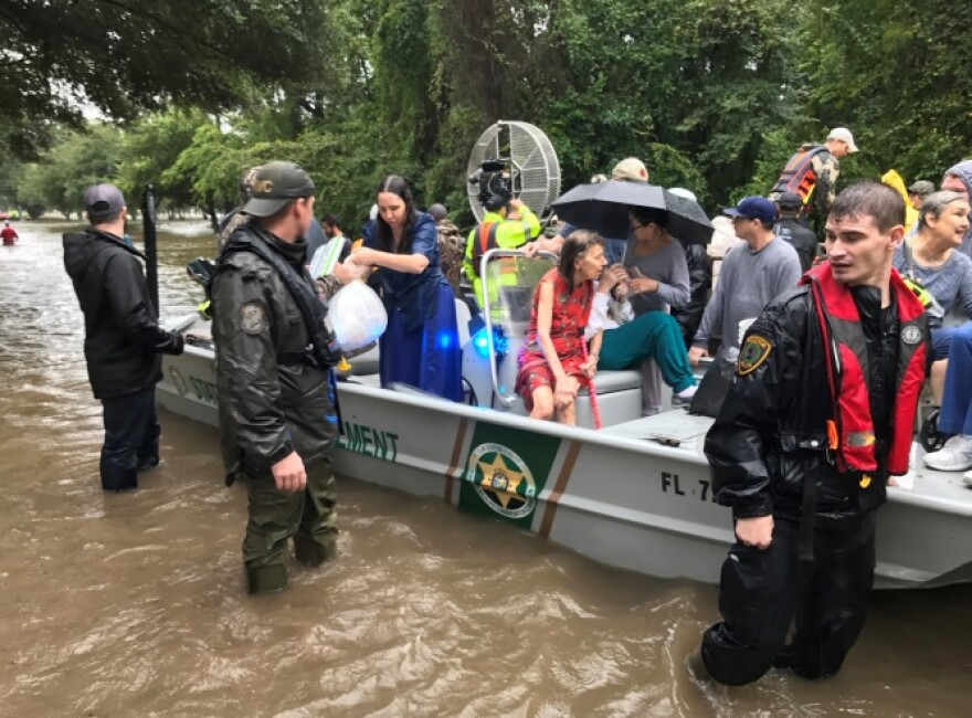 Since arriving over the weekend to help Hurricane Harvey victims, officers with the Florida Fish and Wildlife Conservation Commission deployed to Texas have rescued more than 200 Texans so far.