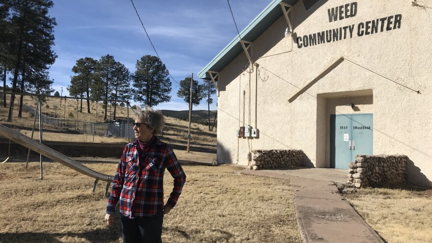 Shirley Stone, 83, remembers when her hometown of Weed, N.M. was a thriving rural community. Today all the sawmills have closed, so did the school. Most ranching families like hers have had to leave.