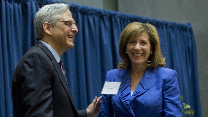 Federal Judge Merrick Garland with Judge Amy Berman Jackson at a courthouse event in 2016.