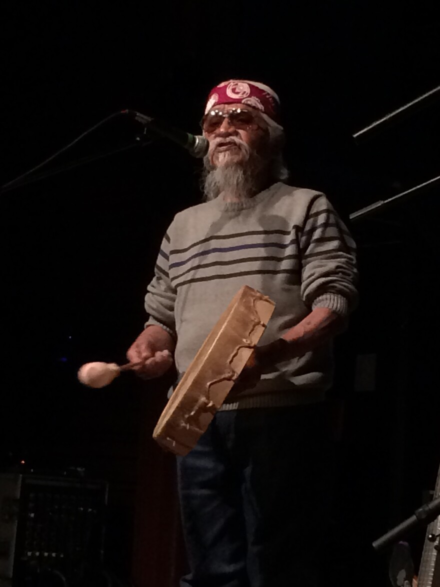 Havasupai Chairman Rex Tilousi recently sang for a crowd in Flagstaff, Ariz. He says his people have subsisted off of farming for generations, so growing and selling medicinal marijuana would be a good fit.