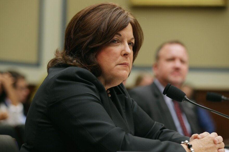 Secret Service Director Julia Pierson testifies before the House Oversight and Government Reform Committee about the White House perimeter breach during a hearing on Tuesday. Pierson stepped down from her position on Wednesday.