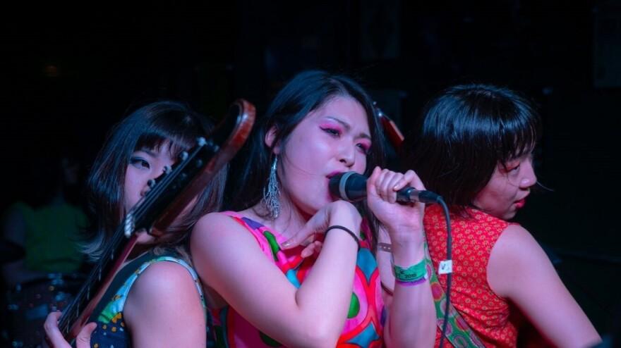 Otoboke Beaver performs at Valhalla in Austin, TX during the 2019 SXSW music festival.