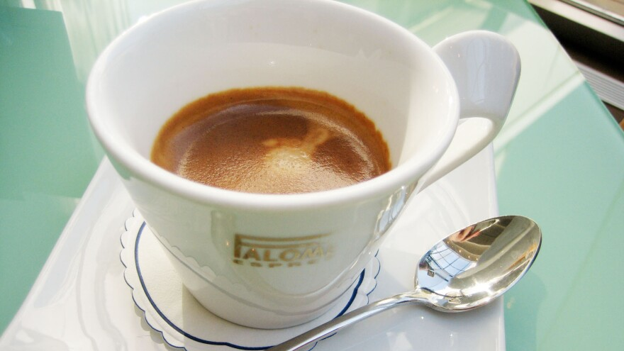 """""""Greek coffee"""" may be a matter of national pride in the Mediterranean nation. But increasingly, Greeks are embracing espresso, an imported brew, as their cup of Joe of choice."""