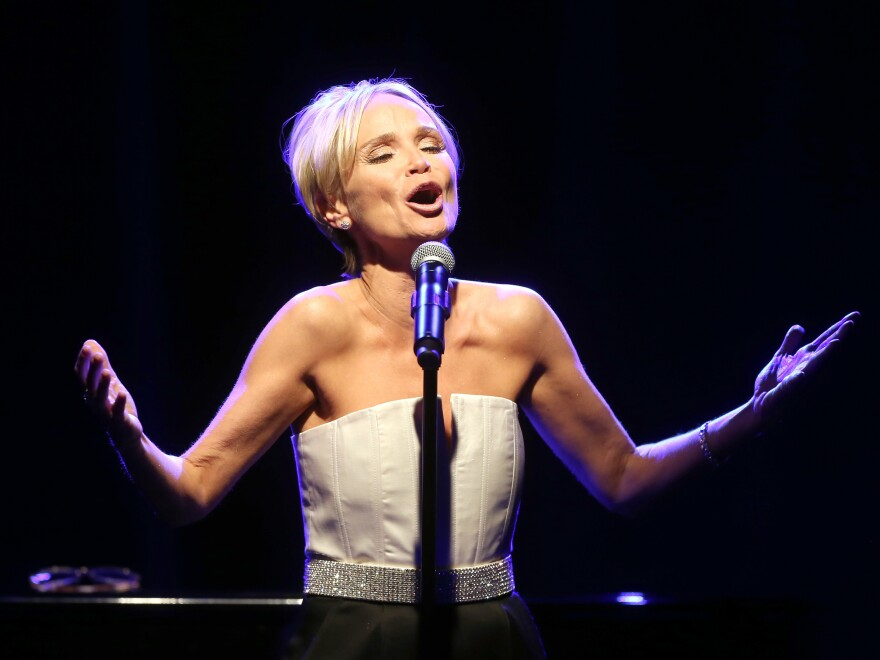Kristin Chenoweth performs at the 2014 Winter Television Critics Association tour dinner on Jan. 21, 2014, in Pasadena, Calif.