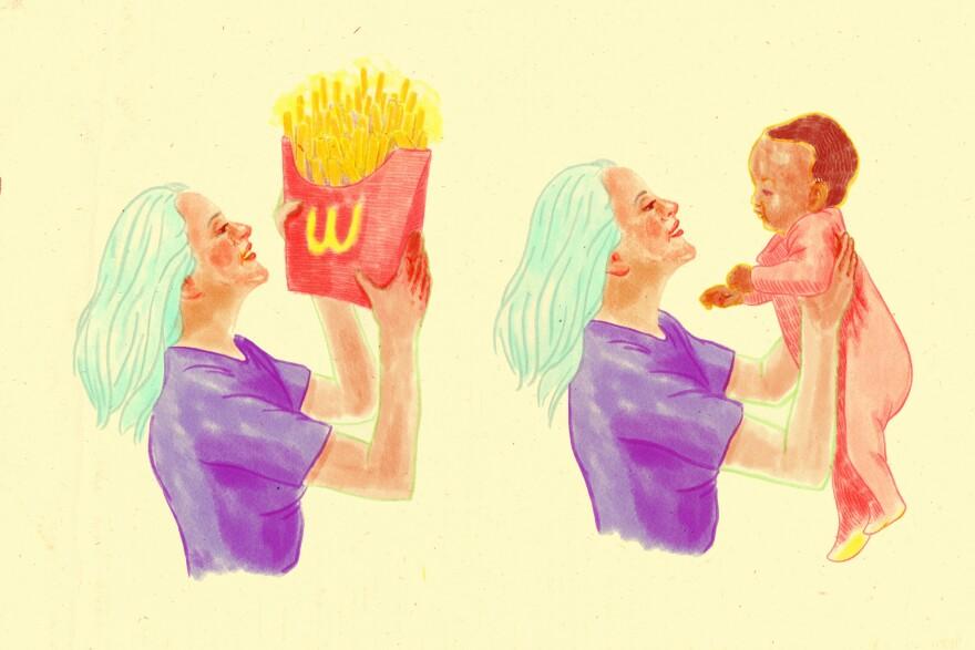 Baby Vs. Fries
