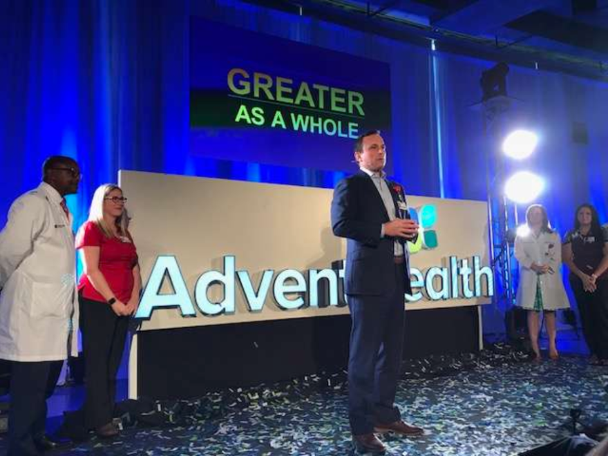 Florida Hospital gets a new genomic center, Apple Health records and a new name come 2019.
