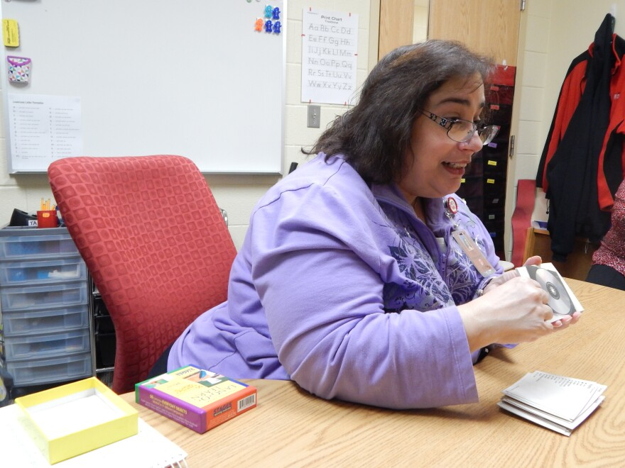 Liz Toro is the English as a second language paraprofessional at Park Layne in the Tecumseh School District. latino