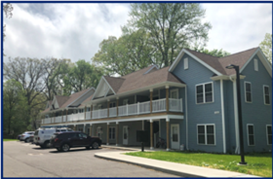a photo of apartments for homeless youth