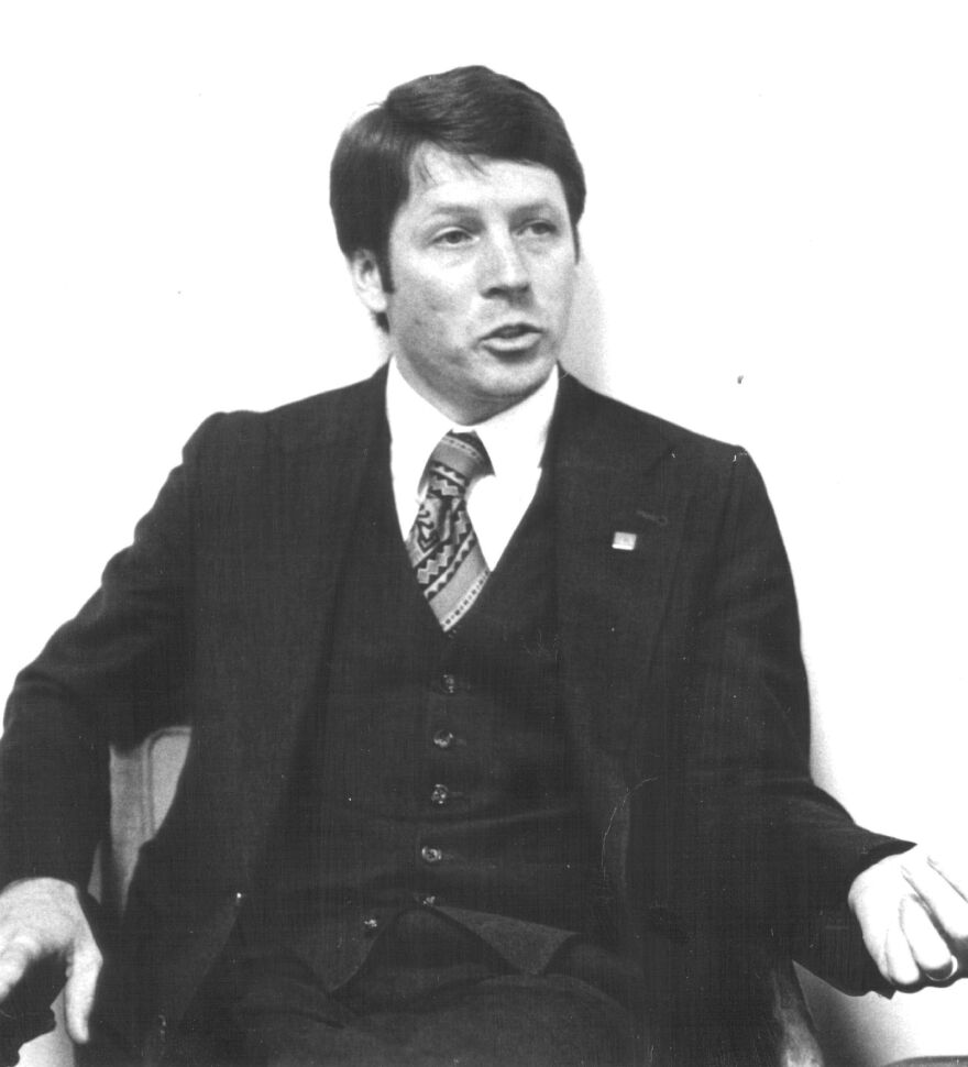 """Roger Conner, shown here in 1981, led the Federation for American Immigration Reform as its first executive director until 1988. Now a woodworker in Nashville, Tenn., Conner condemns Trump officials' efforts to alter census apportionment counts. """"I can only understand it as a pure expression of racism and evil,"""" Conner says. """"And yet I have to own I took this same position 40 years ago."""""""