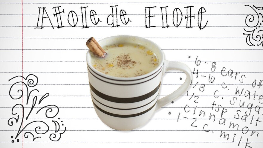 <em>Atole de elote</em> is a warm corn drink from Central America. Student Jose Rivas wrote an essay about a weekly tradition of enjoying <em>atole</em> with his late father in El Salvador, and how the drink helped him to feel more at home after he moved to the U.S.