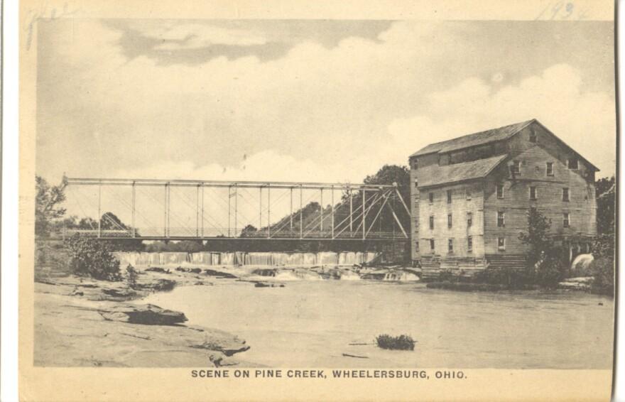 A photo of Pine Creek near Wheelersburg Ohio