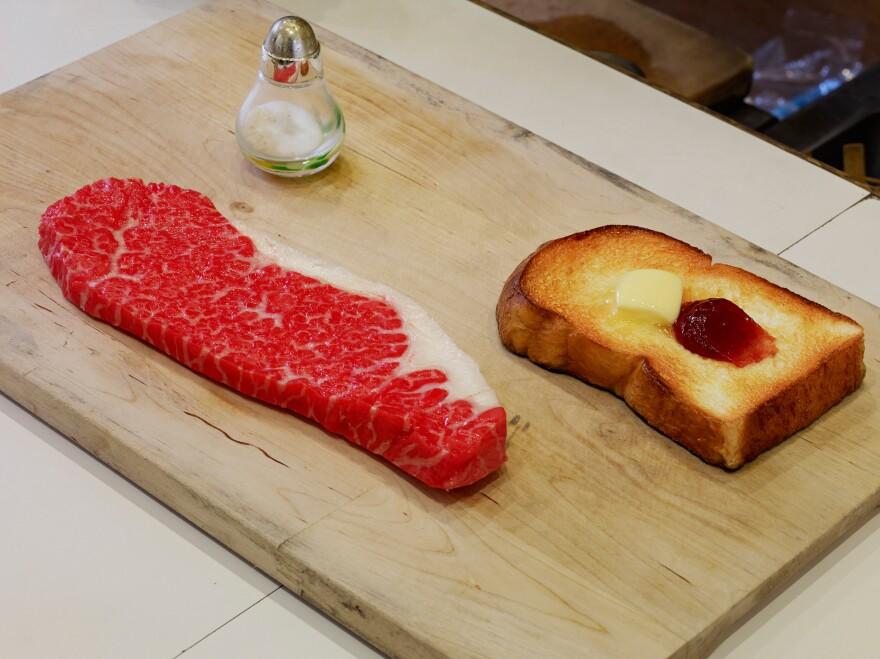 Steak and toast