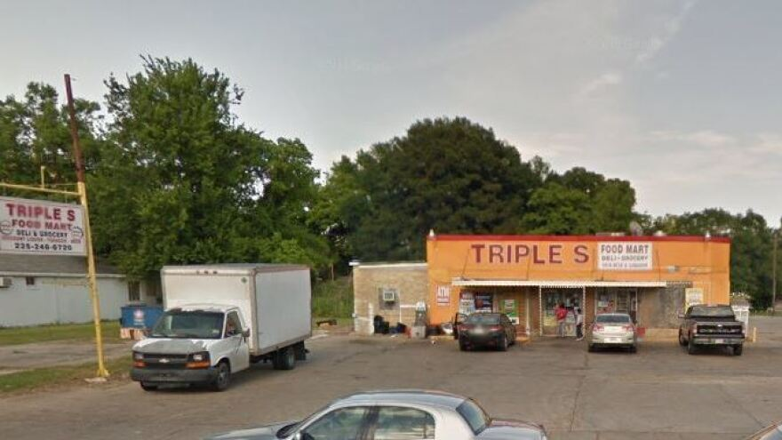 The Triple S convenience store was the scene of a shooting shortly after midnight Tuesday — and the site of protests later that day, after video of a police-involved shooting circulated.