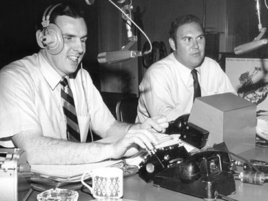 "From 1952 to 1974, the ""Joy Boys"" — Walker (left) and Willard Scott — provided D.C. radio listeners with a daily dose of comedy."