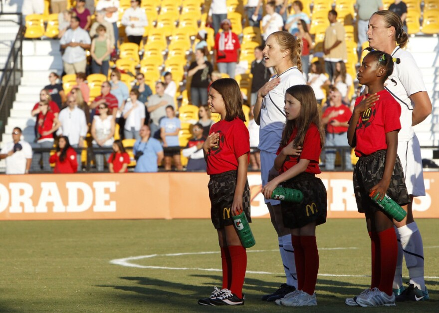 Young female soccer players in the U.S. are ready for some new idols, like defender Rachel Buehler and forward Abby Wambach of the U.S. Women's National Soccer Team.
