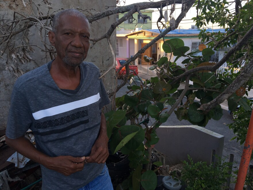 Hurricane Maria damaged Angel Manuel Martinez's roof, but FEMA has denied him a grant to repair it in part because he doesn't have the deed. The house is on city land, but it's been his family's for more than 50 years.