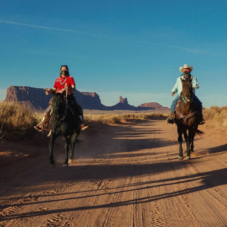"""Allie Young led a """"get out the vote"""" campaign on horseback across the Navajo Nation, which spans across the states of Arizona, New Mexico, and Utah."""