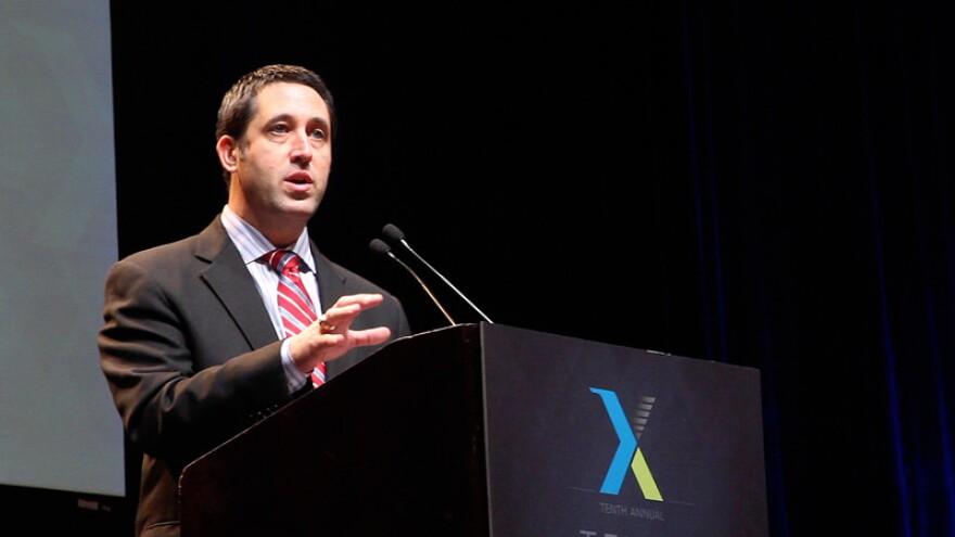 Texas Comptroller Glenn Hegar at a forum in January 2015.