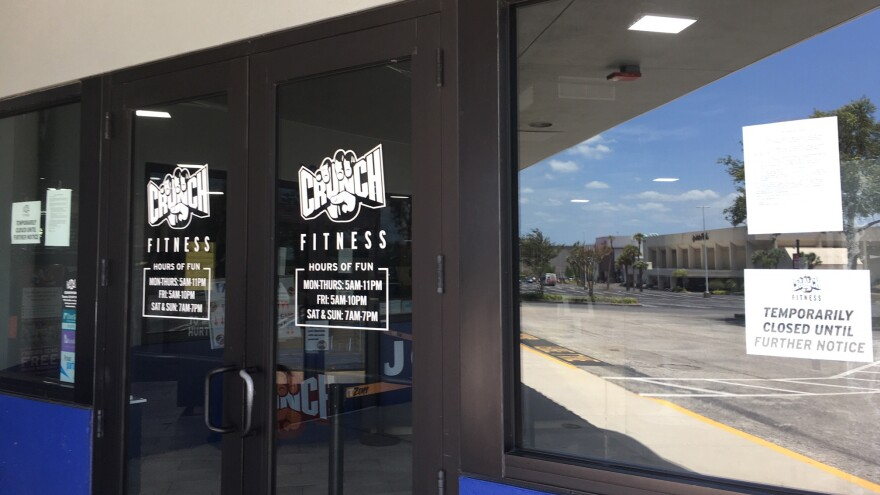 Gymnasiums, like Crunch Fitness in Clearwater, will be allowed to reopen under orders issued Friday by Gov. Ron DeSantis.