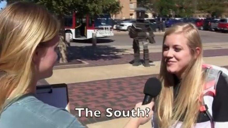 History quiz: Students on campus.