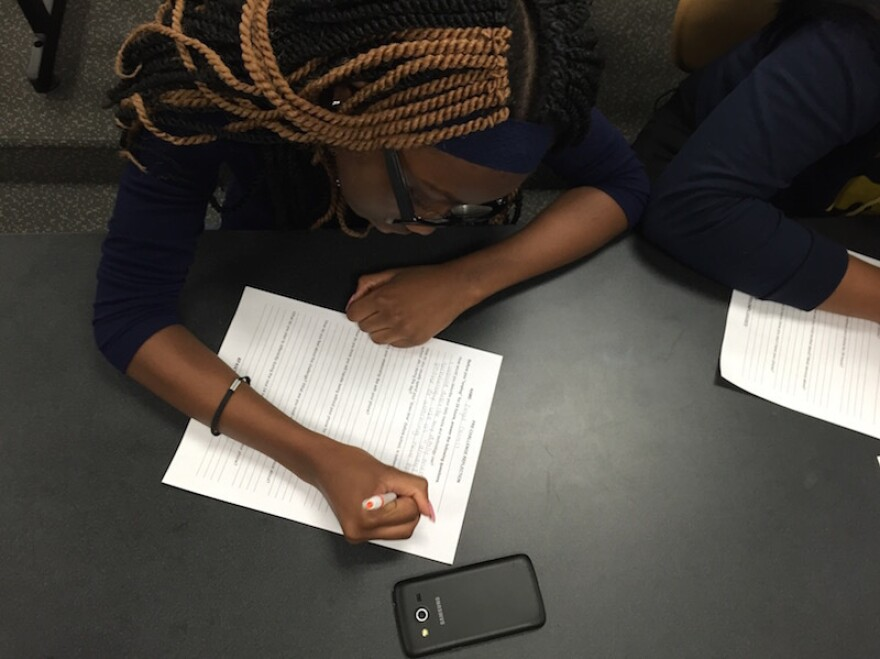Maplewood freshman Angel Carroll writes her expectations about what life will be like without her phone for a day.