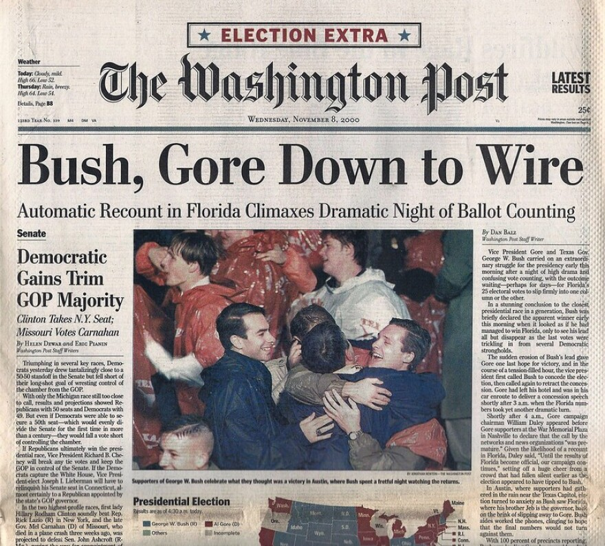 Bush Gore Washington Post Front Page
