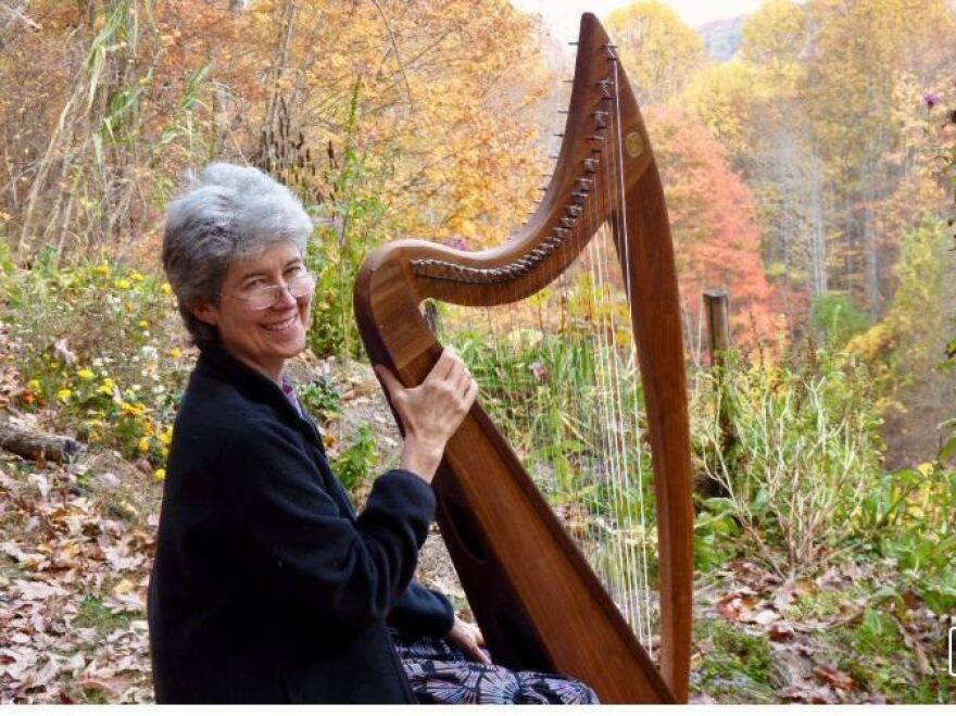 Carolyn Deal is hoping GoFundMe can help her with alternative treatments she wants to try in hopes of regaining some of her hearing. Here she is in 2016 with her 25-year-old double-strung harp.