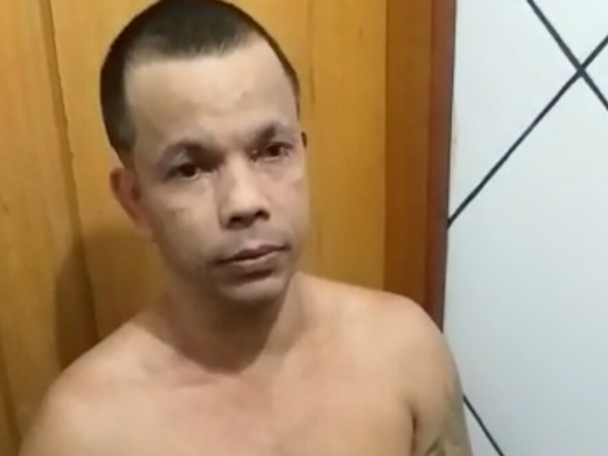Clauvino da Silva was caught trying to slip out of a Rio de Janeiro prison complex Saturday, disguised as a woman.