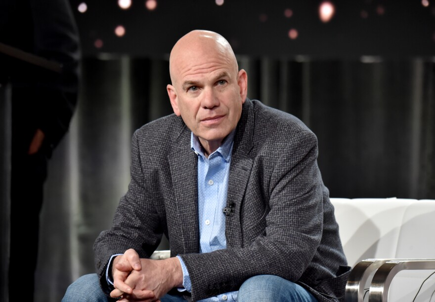 David Simon, creator of <em>The Wire</em> and co-creator of <em>Treme </em>and <em>The Deuce,</em> appears at the Television Critics Association Press Tour on Jan. 15, 2020, in Pasadena, Calif.