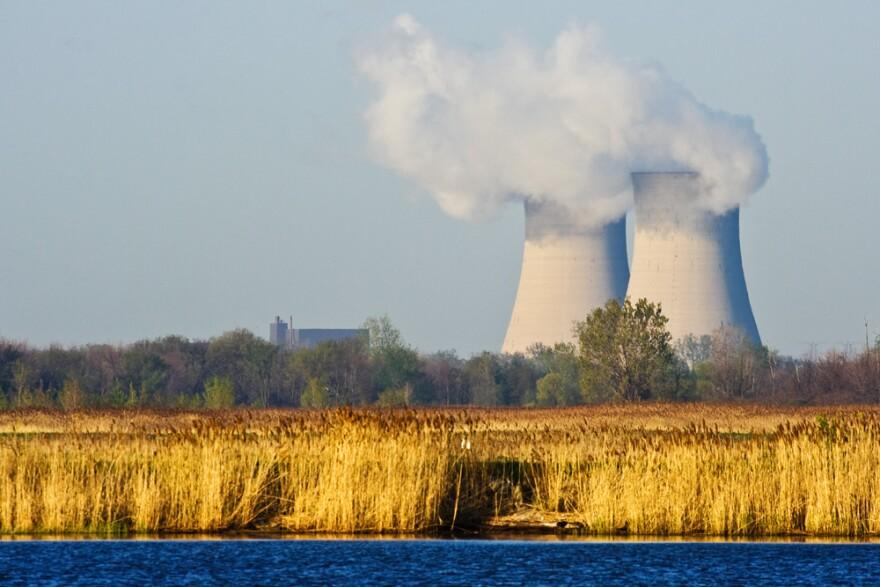 The Enrico Fermi Nuclear Power plant, on Lake Erie.