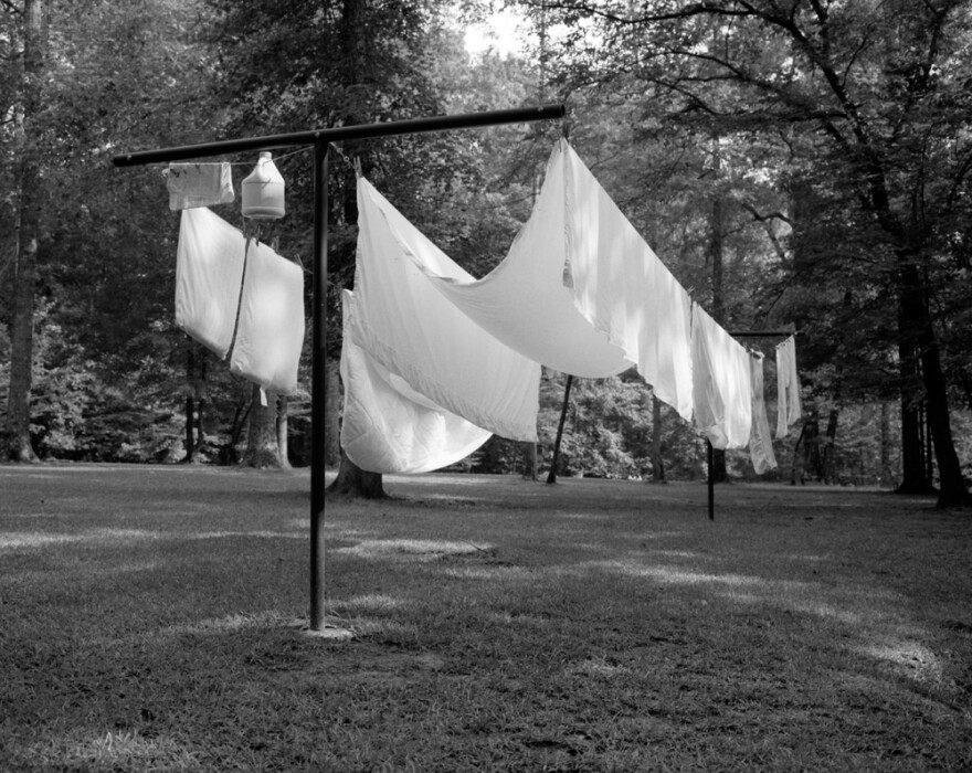 """<em>Clothesline</em>, from Hamrick's series """"Hideaway"""" — which is the name his father gave to their Georgia home."""