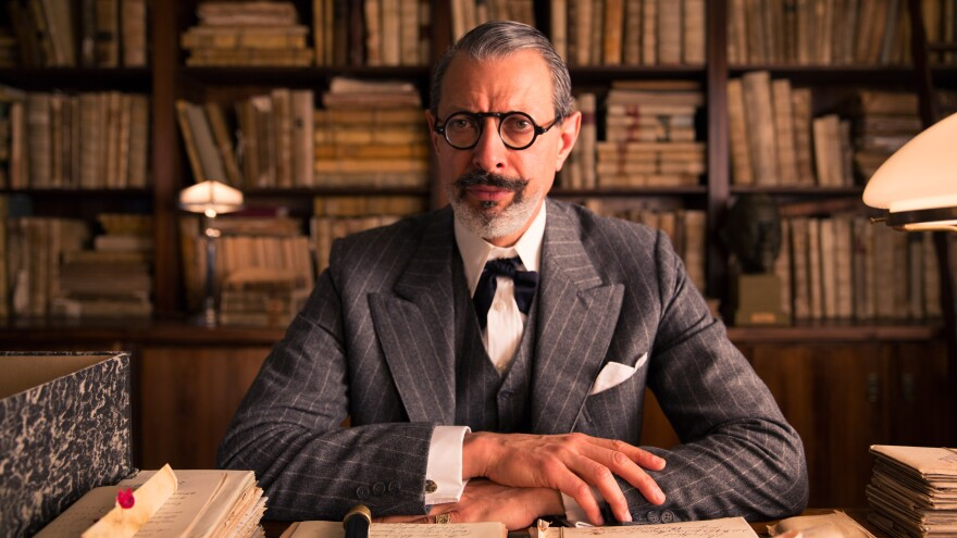 """Hannon told the <em>Los Angeles Times</em> that actor Jeff Goldblum, who plays Deputy Kovacs, had """"the most extraordinary beard I've ever come across."""""""