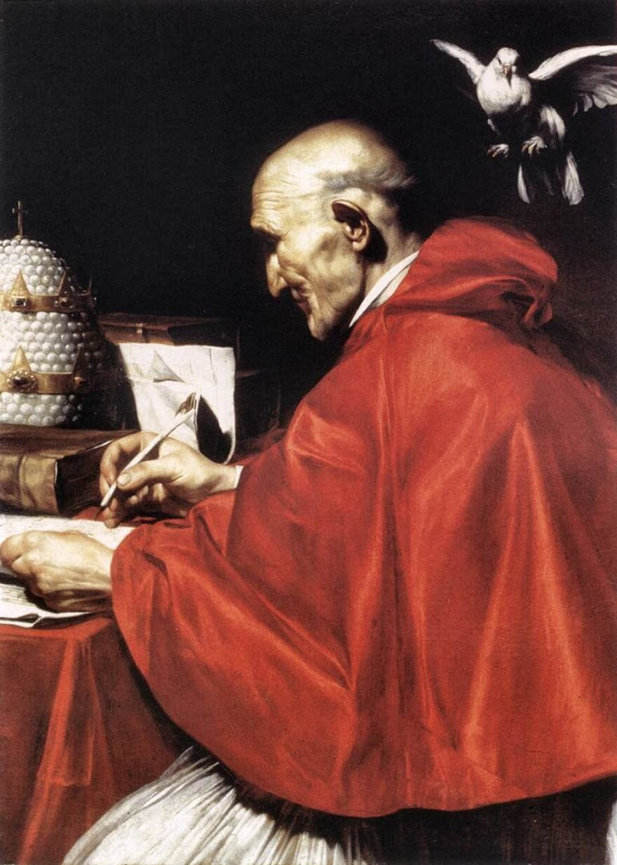 A painting of Pope Gregory the Great as done by José de Ribera.
