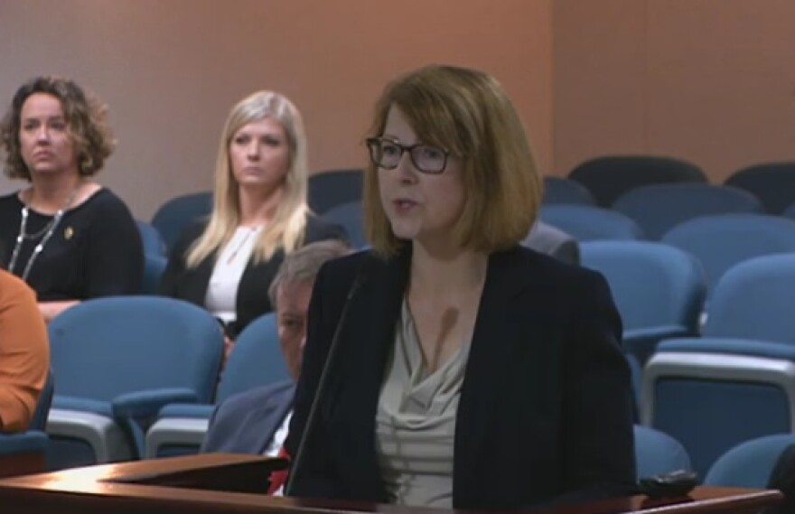 State courts administrator Patricia Jameson speaking to lawmakers Thursday.