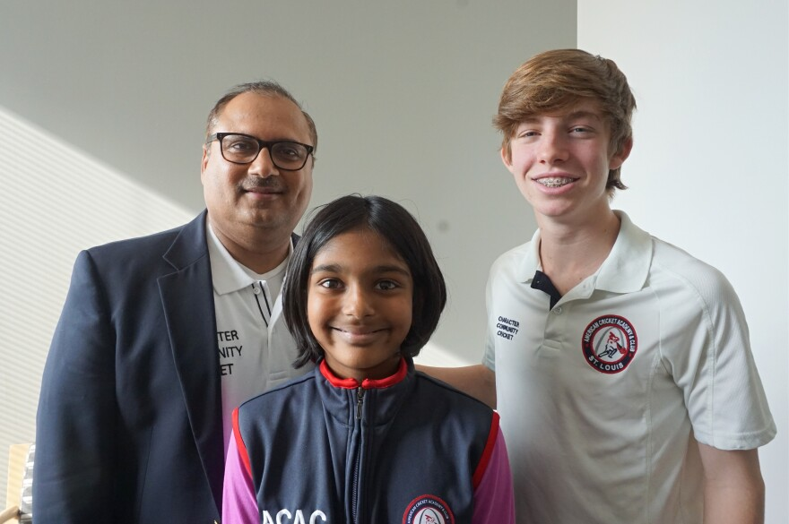 """(L-R) Ajay Jhamb, Pooja Ganesh and Taine Dry joined Friday's """"St. Louis on the Air"""" to talk about their passion for the cricket sport."""