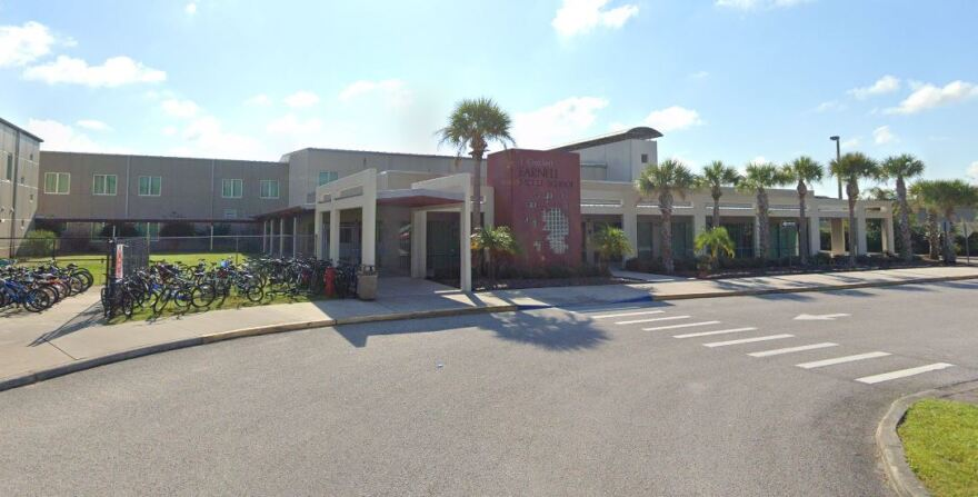 Farnell Middle School has about 1,300 students and is located at 13912 Nine Eagles Drive near Westchase.