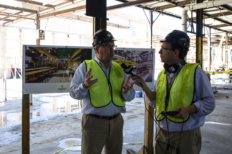 Lawrence Group CEO Steve Smith talks with St. Louis Public Radio's Wayne Pratt about his vision for City Foundry STL.