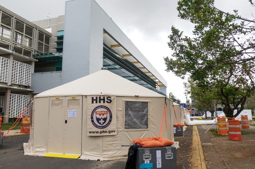 The federal government has set up seven mobile clinics to help with trauma care.