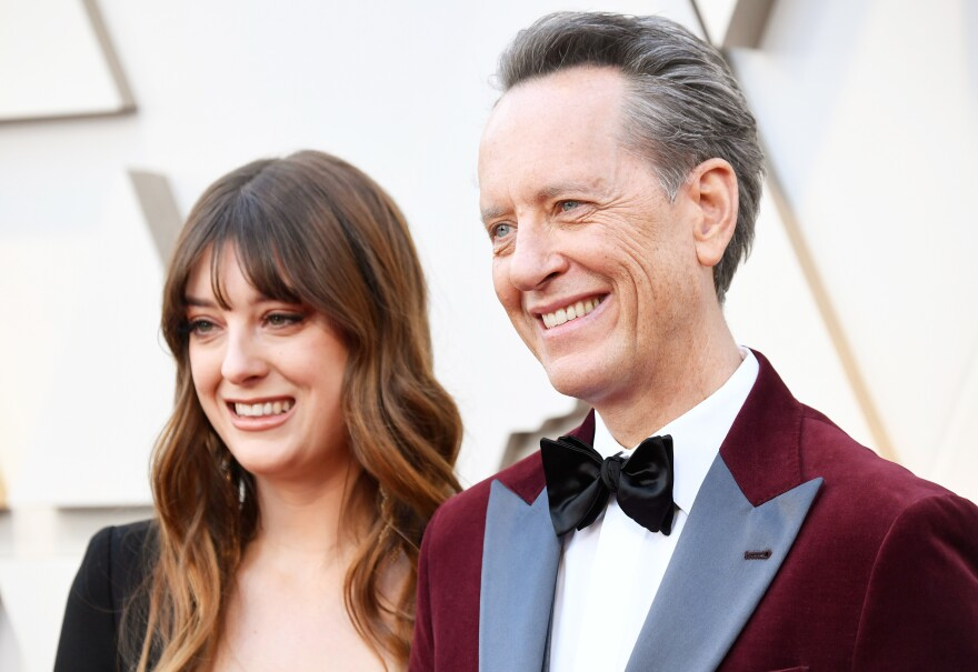 Olivia Grant, left, and Richard E. Grant, right